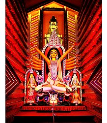 Devi Durga with Family - Photographic Print