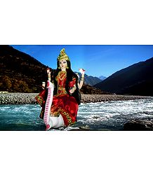 Goddess Ganges Photo - Unframed Photo Print on Paper