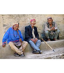 3 Wise Men from Keylong -  Himachal Pradesh, India