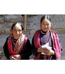 Wizened Beauties from Keylong -  Himachal Pradesh, India
