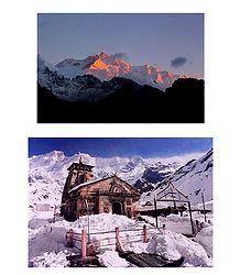 Himalayas and Kedarnath Temple, India - 2 Photo Prints