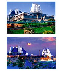 Isckon Temple, Bangaluru - Set of 2 Photo Prints