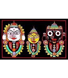 jagannath, Balaram, Subhadra - Photographic Print of Jamini Roy Painting