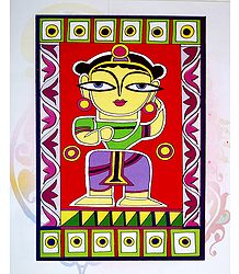 Balaram - Photo Print of Jamini Roy Painting