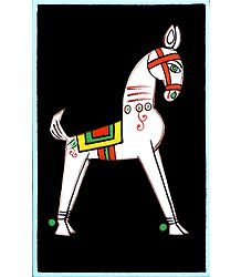 Horse - Photo Print of Jamini Roy Painting