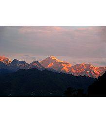 Kangchenjunga at Sunset from Ganesh Tok, Gangtok, India