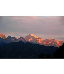 Kangchenjunga at Sunset from Ganesh Tok, Gangtok, India - Photo Print
