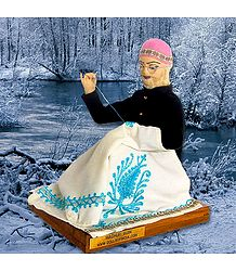 Kashmiri Shawl Weaver Photo - Unframed Photo Print on Paper