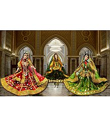 Kathak Dancers Photo - Unframed Photo Print on Paper