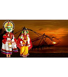 Kathakali Dancers - Unframed Photo Print on Paper