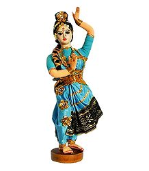 Kuchipudi Dancer Photo with Blue Dress - Unframed Photo Print on Paper