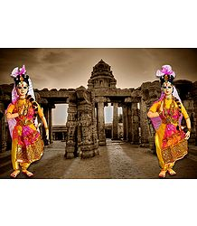 Kuchipudi Dancers - Unframed Photo Print on Paper