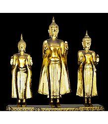 3 Buddha Statues, Bangkok - Thailand