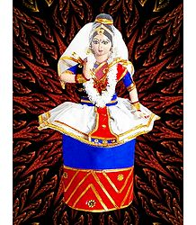 Photo Print of Manipuri Dancer Doll from Manipur