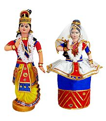 Manipuri Dancer Doll from Manipur