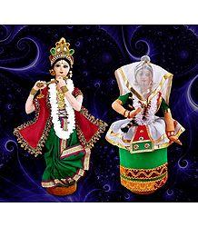 Manipuri Dancers Photo - Unframed Multicolor Photo Print on Paper