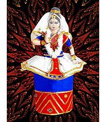 Manipuri Dancer Photo - Unframed Multicolor Photo Print on Paper