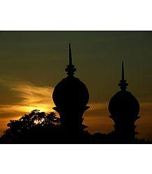 Minarets of Ibrahim Roza During Sunset - Bijapur, Karnataka, India