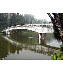 Bridge on Mirik Lake - North Bengal, India