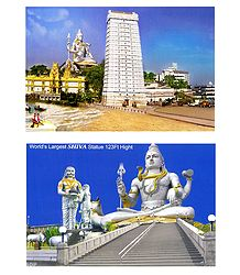Murdeshwar Temple and Shiva - Set of 2 Photo Prints