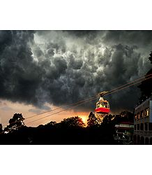 Impending Storm in Mussoorie - Uttarakhand, India