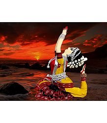 Odissi Dancer - Unframed Photo Print on Paper