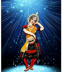 Odissi Dancer - Photo Print on Paper