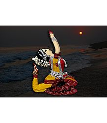 Odissi Dancer Photo - Unframed Photo Print on Paper