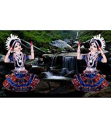 Odissi Dancers - Unframed Photo Print on Paper