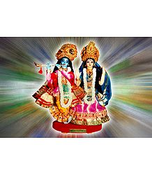 Radha Krishna Photo - Unframed Photo Print on Paper