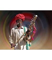 Rajasthani Musician Rajasthan, India