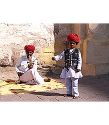 Folk Singer and Dancer from Jaisalmer - Rajasthan, India