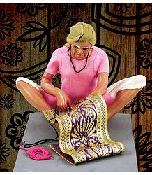 Rug Weaver Photo - Unframed Photo Print on Paper