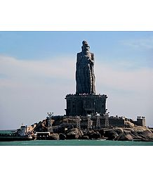 Saint Thiruvalluvar Statue at Kanyakumari - Tamil Nadu, india