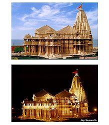 Somnath Temple, Gujarat, India - Set of 2 Photo Prints