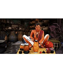 Tabla Maker Photo - Unframed Photo Print on Paper