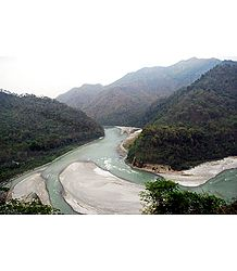 Confluence of Tista and Rangpo - Photo Print