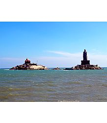 Twin Rocks at Kanyakumari - Tamil Nadu, India