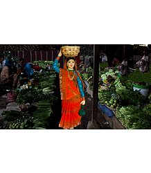 Vegetable Seller - Unframed Photo Print on Paper