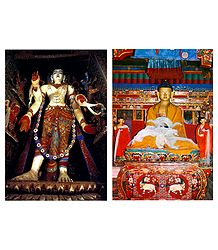 Buddha and Avalokiteshvara - Set of 2 Postcards