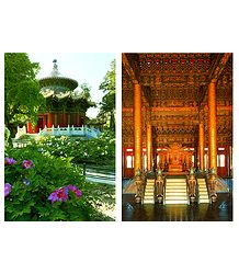 Forbidden City, China - Set of 2 Postcards