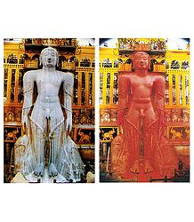 Maha Mastabhishekha of Sri Gomateshwara - Set of 2 Postcards
