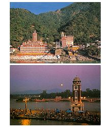 Haridwar and Rishikesh - Set of 2 Postcards