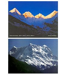 Panch-Chuli and Chaukhamba Peak of Himalayas - Set of 2 Postcards