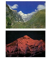 Neelkanth Peak and Nanda Devi - Set of 2 Postcards