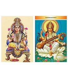 Buy Lakshmi and Saraswati Postcards
