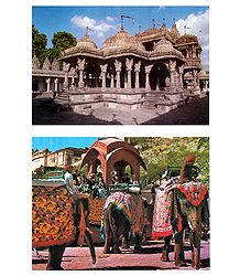 Buy Jain Temple and Amer Fort Photograph