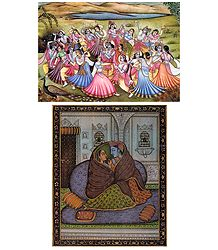Raas Lila and Radha Krishna Postcards
