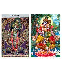 Radha Krishna Postcards
