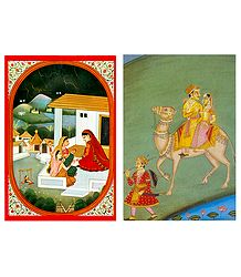 Rajput Women and Dhola Maru - Set of 2 Postcards